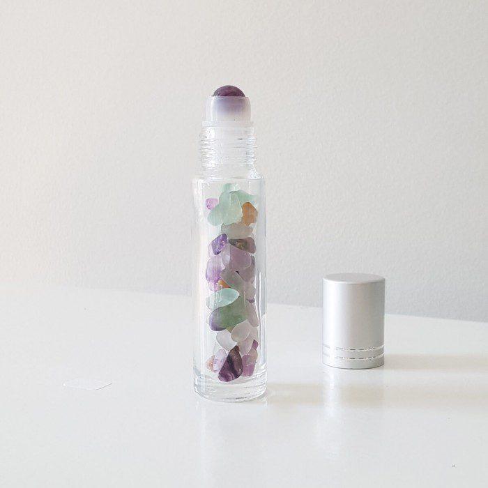 botellita roll-on de fluorita