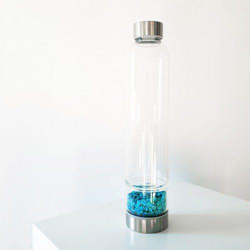 botella con doble cámara con turquesa