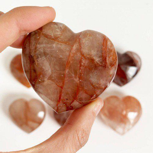 Corazón de cuarzo hematoide