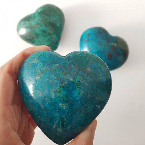 corazón de crisocola mediano