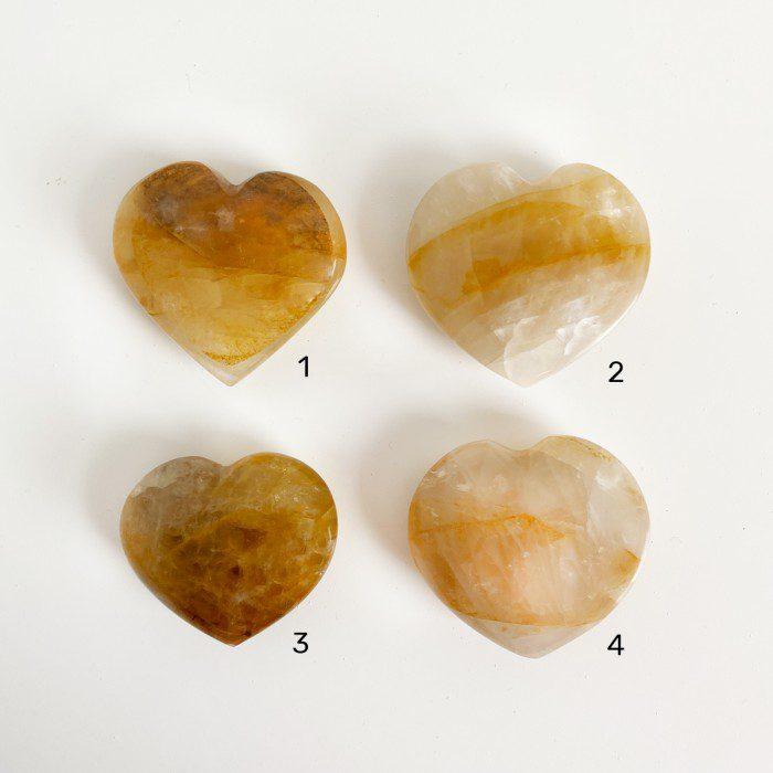 corazones de cuarzo sanador