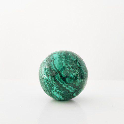 esfera de malaquita grande