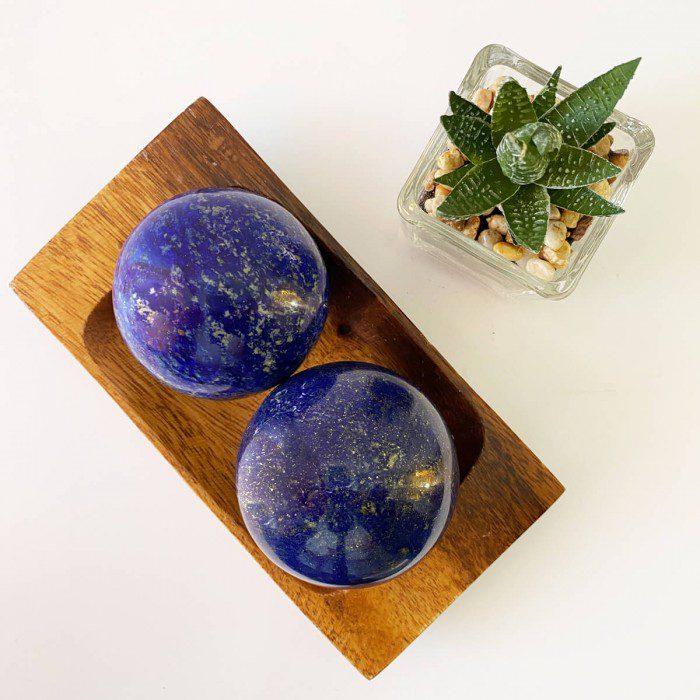 Esfera de lapislázuli grande