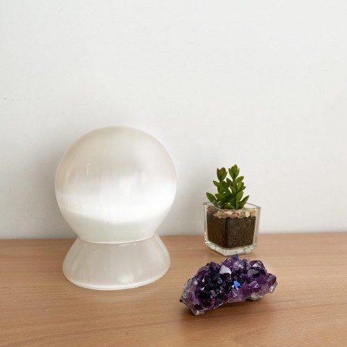 lámpara de selenita esfera