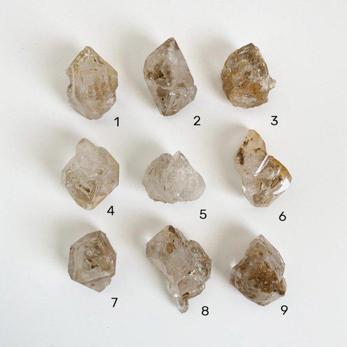 masivos de cuarzo cristal con calcita biterminadojpg