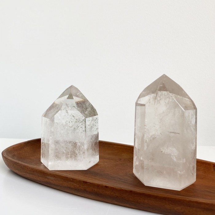 punta de cuarzo cristal