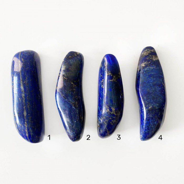 rodado de lapislázuli forma alargada