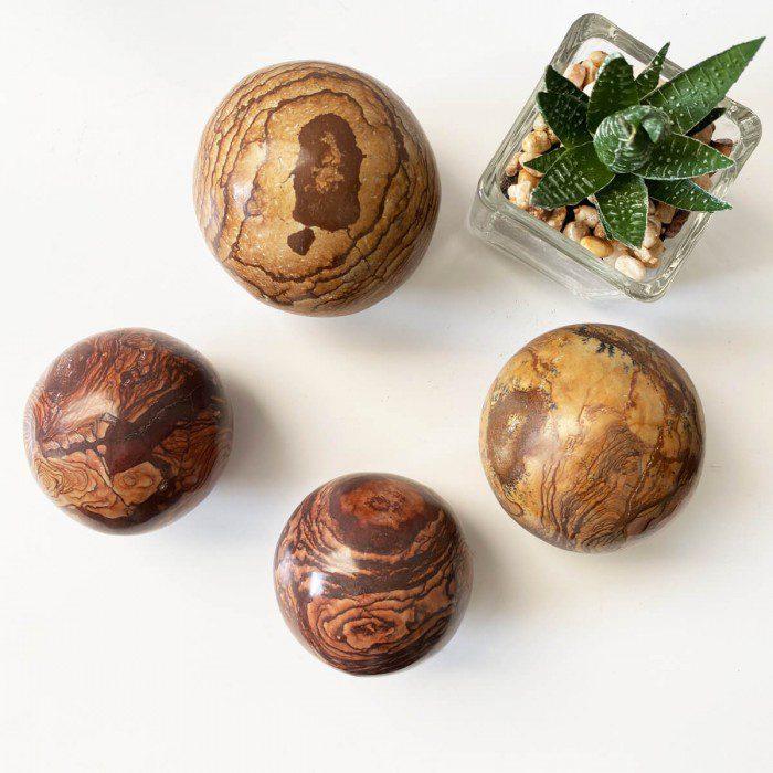 esfera de jaspe chocolate