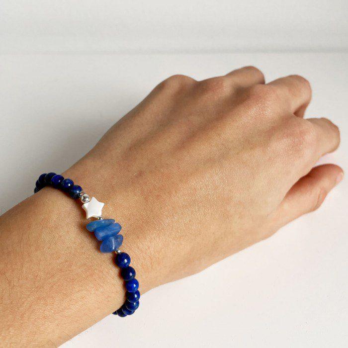 pulsera elástica de lapislázuli 2
