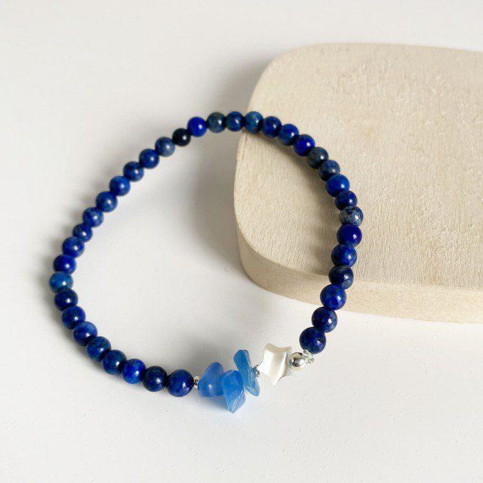 pulsera elástica de lapislázuli