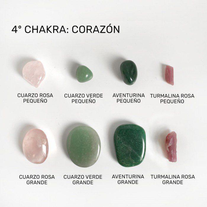 minerales para el chakra corazón