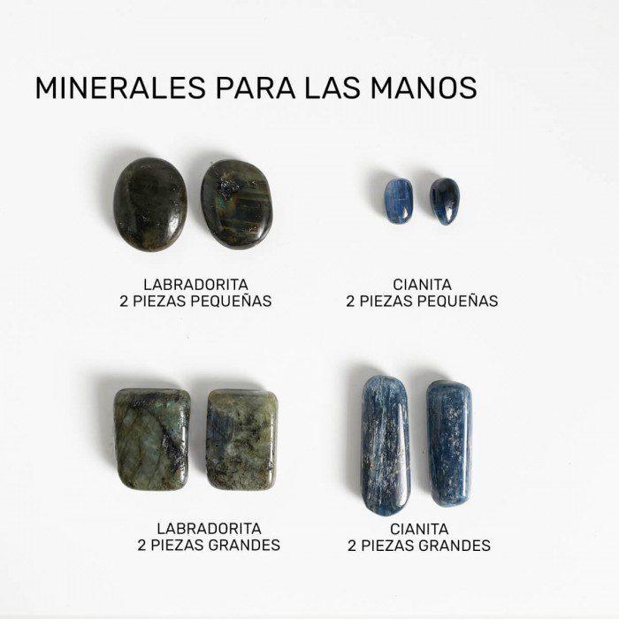 minerales para el chakra manos