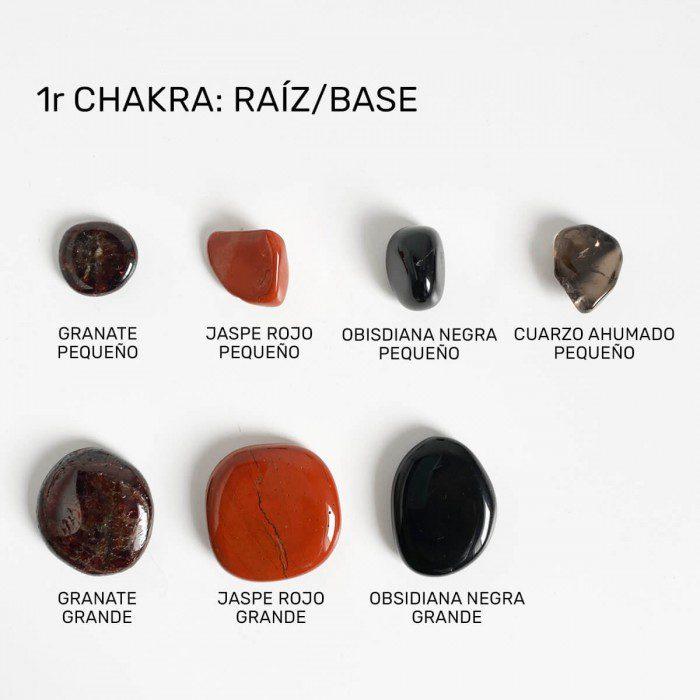 minerales para el chakra raiz