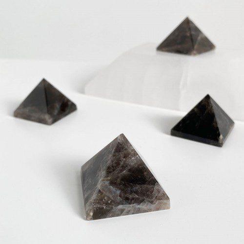 pirámide de cuarzo ahumado mini