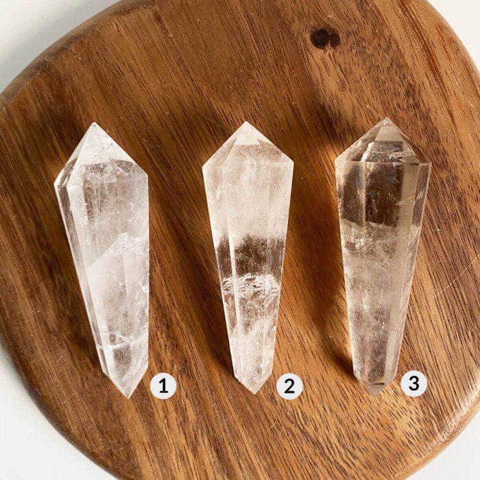 biterminado de cuarzo cristal grande