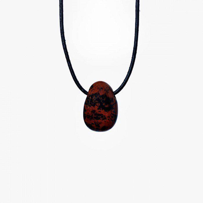 colgante de obsidiana caoba