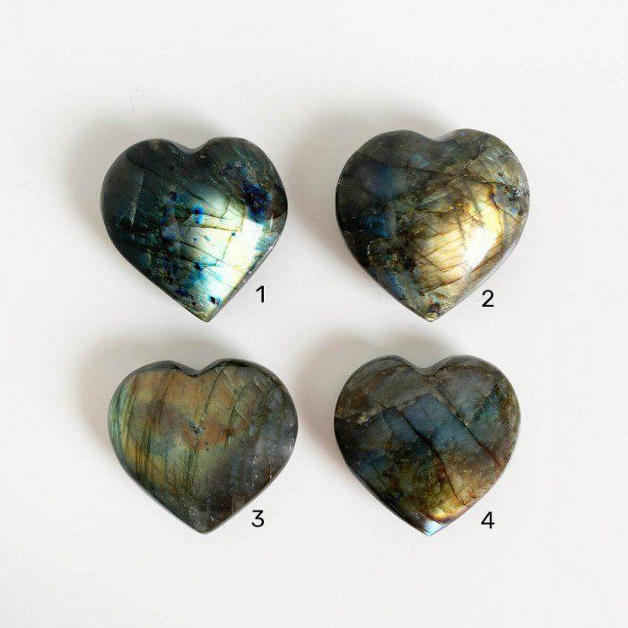 corazones de labradorita