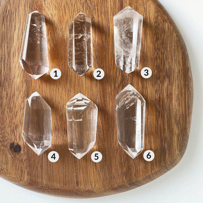 cuarzo cristal biterminado