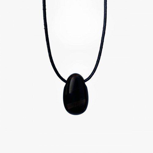 colgante de obsidiana negra