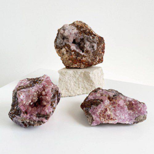 drusa de cobaltocalcita cristalizada grande