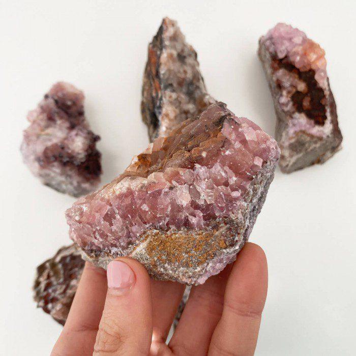 drusa de cobaltocalcita cristalizada mediana