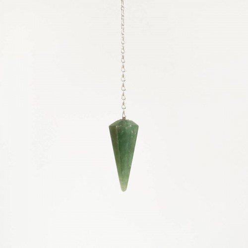 péndulo de cuarzo verde