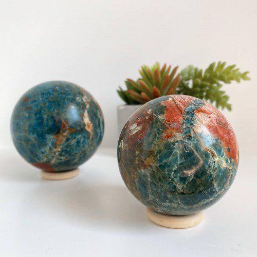 esfera de apatito con jaspe